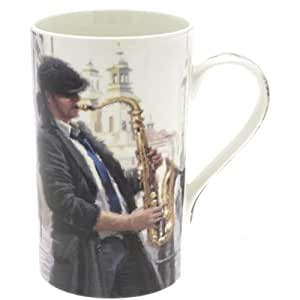Fine Bone China Mug A Man's Life Saxophone Mug