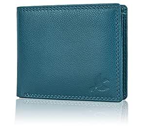 Hornbull Men's Aqua Blue Stella Leather RFID Blocking Wallet