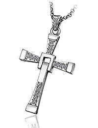 Collar con colgante cruz crucifix and Fast Furious Vin Dominic Toretto Diesel