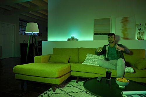 Philips Hue White and Colour Ambiance Personal Wireless Lighting 2 x 6.5 W E14 Small Edison Screw LED Twin Pack Light Bulbs, Perfect Fit, Apple HomeKit Enabled, Works with Alexa