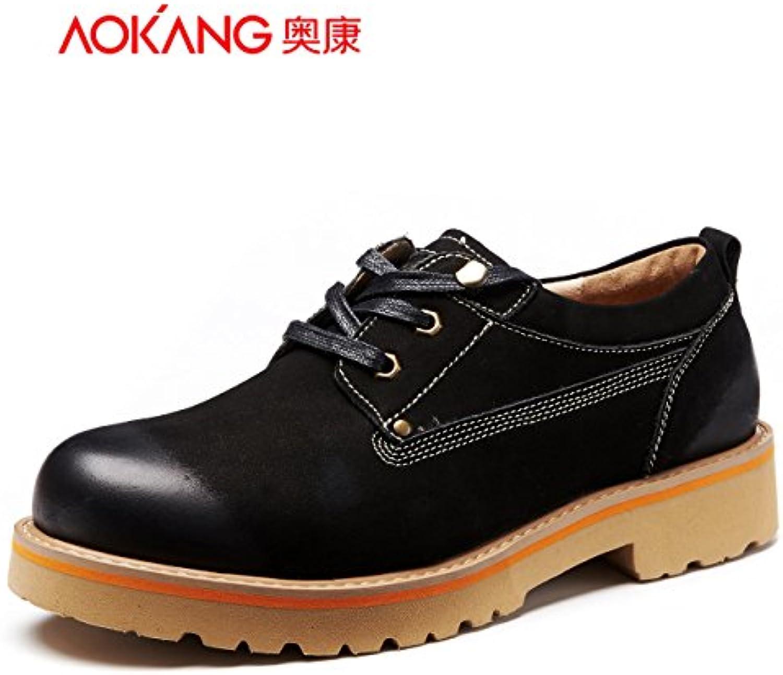 Aemember zapatos de hombre y zapatos cómodos zapatos Zapatos ayuda bajo la juventud actual ,39, negro