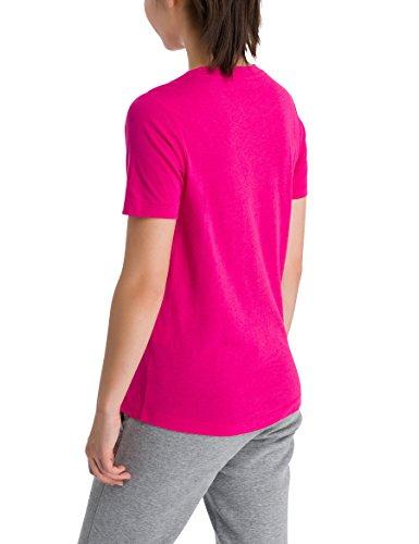 Bench Corp Logo Tee, T-Shirt Donna Rosa (Cabaret Pk11397)