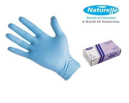 Naturelle-Soft Gants jetables en NITRILE sans poudre Bleu Taille L AQL 1.5 Qualité médicale, sans latex)