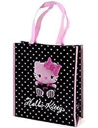 Hello kitty by camomilla - Sac shopping rose noir 34 x 30 x 12cm