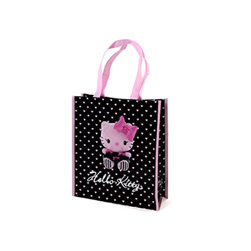 Hello kitty by camomilla - Sac shopping rose noir 34 x 30 x 12cm