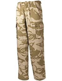 Mens Army Cargo Camo Trousers Desert Black Combat Military Soildier Police Work, Desert Camo, 40