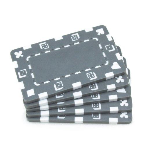 Brybelly 5rechteckig Poker Chips-Europäischen Stil Plaque (grau) (Chips Europäische)