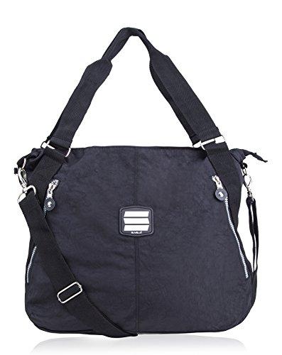 SUVELLÉ Lightweight Large Tote Travel Everyday Crossbody Bag Multi Pocket Shoulder Handbag 1932 … (Pocket 2 Hobo Bag)