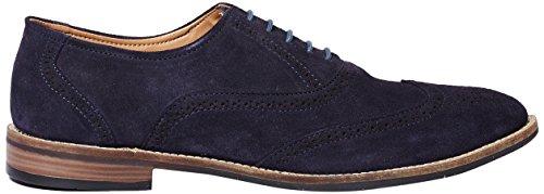 Symbol Men's Navy Leather suede Brogue Shoes- 9 UK/India (43 EU)(AZ-KY-99C)