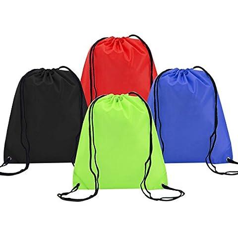 Sac à Dos Cordon Coolzon® Ensemble de 4 Sacs de Bagages Organisateurs en Nylon Mode Drawstring Bags pour Sport Gym Voyage Camping Home de stockage Utilisation