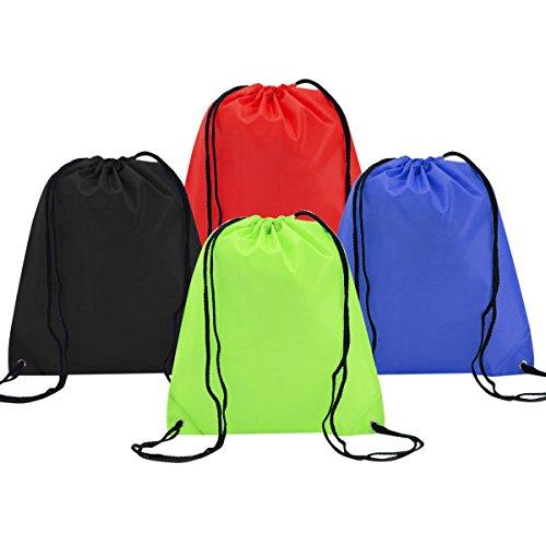4 Pack Mochila Saco Bolsas de Cuerdas de Deporte Coolzon® Bolso Gimna