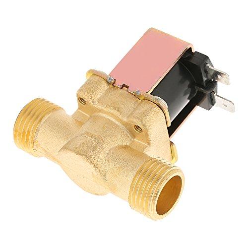 Magnetventil,1/2 Zoll DC 12V normalerweise geschlossen Elektrisches Magnetventil Druckregelventil aus Messingguss Kein Stromverbrauch Ablassventil für Wasserkontrolle