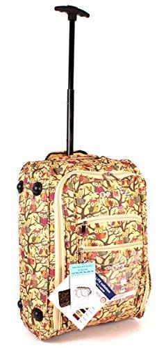 cabin-wb-op-01 Imprimé Chouette Jaune Deux VOL Valise de cabine à roulettes léger bagage à main Sac de voyage