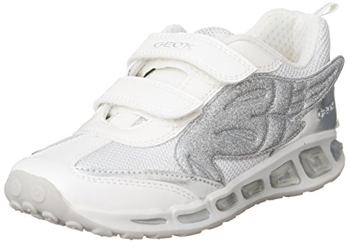 Geox J Shuttle A, Baskets Basses Fille Blanc (C0007)