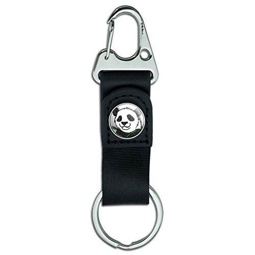 Gürtel Clip auf Karabiner Leder Stoff Schlüsselanhänger Key Ring I Love Herz Pandas Panda Bamboo - Bamboo-gürtel