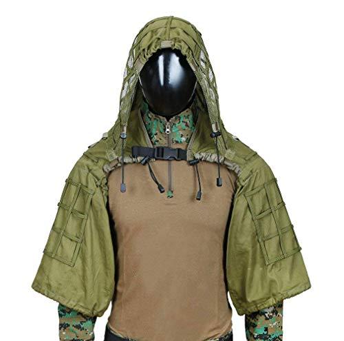 Tarnung Anzug, Verschlüsselung Verstärkung, für Camo Armee Militär Jagd schießen Airsoft Wildlife Fotografie, 3D Blatt Camouflage Colorr, Kind Erwachsener Optional (Farbe : B-2)