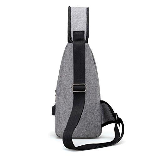 Kigurumi Brusttasche Sling Rucksack Schultertasche Brusttaschen für Herren Blau