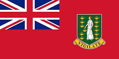 ge Civil Ensign of The British Virgin Islands | Usada por la Marina mercante de las Islas Vírgenes Británicas | Querformat Fahne | 1.35m² | 80x160cm » F ()