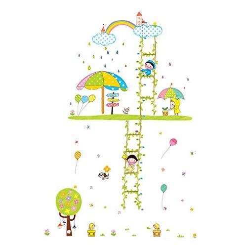 Top von Top Store Cartoon Tiere Wandsticker Schmetterlinge Blumen Bilderrahmen Höhe Messung Wandaufkleber Home Decor Baby Jungen Mädchen Kinder Schlafzimmer Küche Dekoration Happy Children