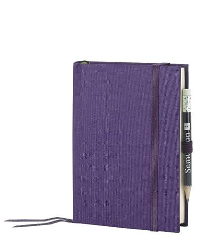 Petit Voyage violet +++ 152 feuilles de papier filigrané (blanc) +++ JOURNAL DE VOYAGE modern +++ qualité originale Semikolon