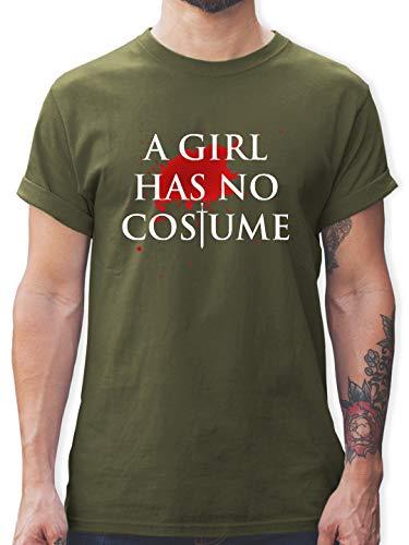 Karneval & Fasching - A Girl Has No Costume Kostüm - L - Army Grün - L190 - Herren T-Shirt und Männer Tshirt