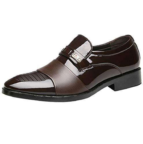 Anzugschuhe Business Herren, Modische Lederschuhe Lackleder Hochzeit Business Derby Oxford Slipper Smoking Schuhe Männer Leder Schwarz, Braun 38-47 by TWBB
