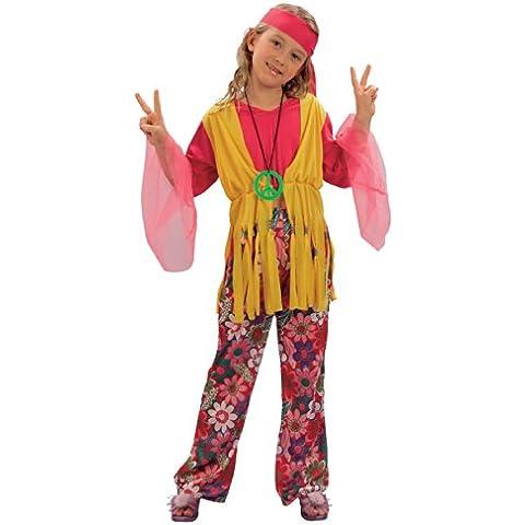 Disfraz de niña Hippy de los años 60 y 70. 10 - 13 años