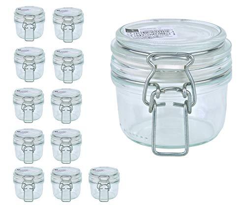 Bormioli Fido Gläser mit Bügelverschluss 12 teilig | Füllmenge 125 ml | Luftdichte Konservierung durch den Gummiring sowie den Drahtbügelverschluss