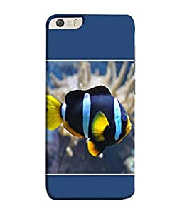 PrintVisa Colourful Fish 3D Hard Polycarbonate Designer Back Case Cover for Micromax Canvas Knight 2 E471