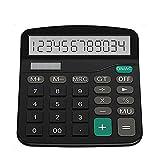 AMY Rechner Desktop-Solar Dual Power Calculator 12-Stellen-Digital-HD-LCD-Display Übergroßer Kunststoff-Knopf Geeignet Für Büro, Finanz