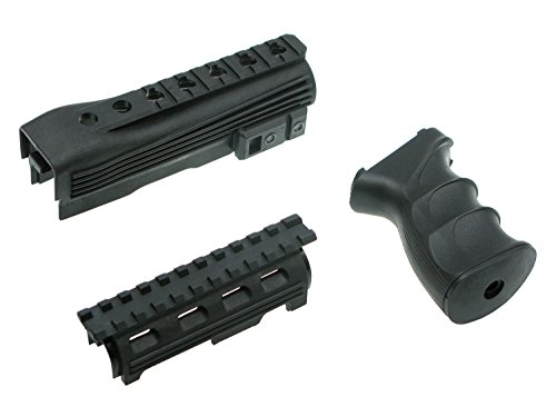Begadi Tactical Kit für Softair / Airsoft AK Modelle - bestehend aus Griff & Handschutz mit (Ak Kits)