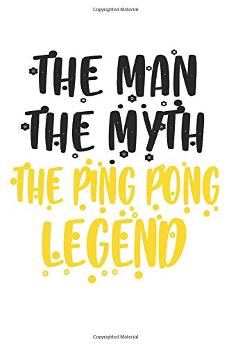 Ping Pong: Funny Ping Pong Notebook Journal | Ping Pong Tennis | For Tennis Players, Coaches And Everybody Who Loves Playing Tennis (6x9 inch | lined paper | Soft Cover | 100 Pages) -