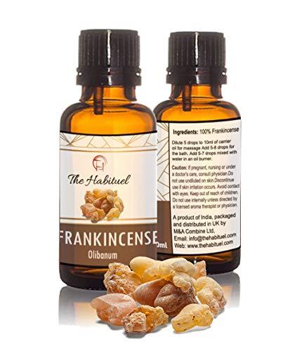 The Habituel Ätherisches Öl Weihrauch - 100% reines, natürliches unverfälschtes therapeutisches Grade für Haut, Zähne, Gesicht, Zahnfleisch -
