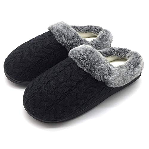 Jiajiale Donna Pantofole di Cachemire Invernale Accogliente Memory Foam Peluche Caldo...