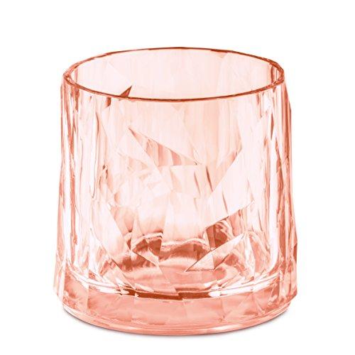 koziol 3402654 Club No. 2 en verre de 250 ml, Superglas transparentes, Quartz Rose