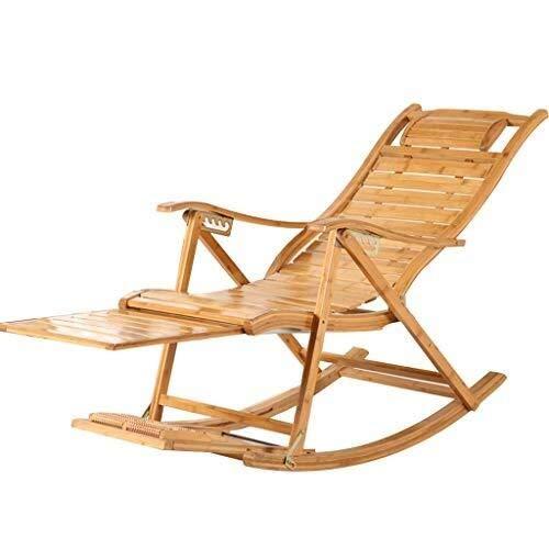 Hfyg Deckchairs Schaukelstuhl Klapp Schaukelstuhl Chaiselongue Liege Outdoor für Patio Beach Yard Lawn Pool Liegestuhl - Outdoor Klapp-liegen