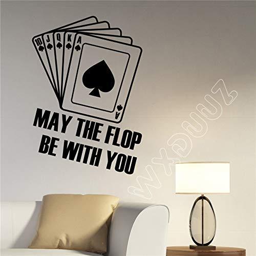 xingbuxin Kinderzimmer Wandtattoos inspirierende Zitate Poker Wandtattoos Spielkarten Vinyl Applique Art Dekoration Home White 83 x 58 cm