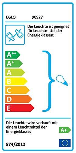EGLO Wand-Deckenleuchte LED Modell ROTTELO, 6-flammig, Stahl, nickel-matt,chrom, HV 6xGU10 LED 3W, 1080lm, inklusiv Leuchtmittel, L=1160 mm, B=70 mm 90927 E -