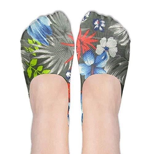 Bag shrots Women's Hawaiian Black Thin Casual Hidden No Show Liner No Show Athletic Running Socks Non Slip Flat Boat Line Keds Womens Slip