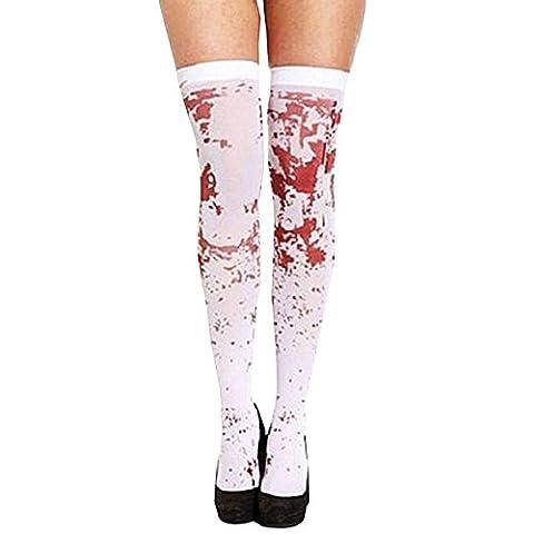 CAOLATOR accessoires L'infirmière avec le sang de la blanc chaussette / bas sanglant / halloween toussaint zombie de sang de chaussettes