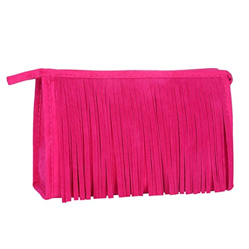 Fulltime® Portable Holder Toiletry Voyage Fashion Tassel Cosmetic sac à main