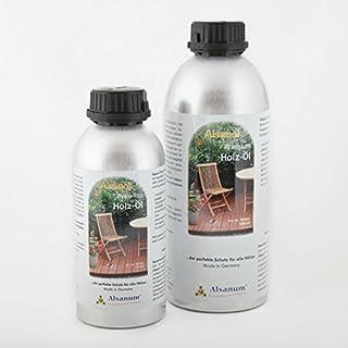 Kombiset Alsanol Premium Holz-Öl 1000 ml + 500 ml in der Alu-Flasche