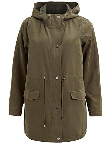 VILA CLOTHES Viwonderfull Parka-Noos, Giubbotto Donna, Verde (Ivy Green), 38 (Taglia Produttore: Medium)