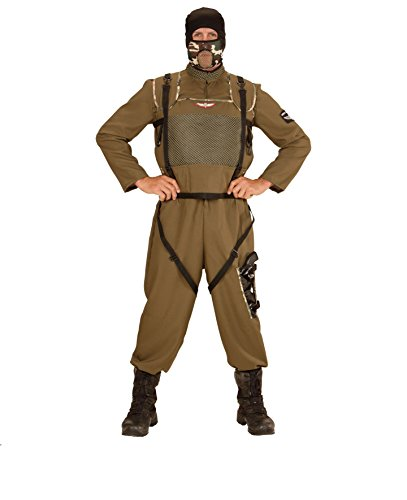 KOSTÜM - SPECIAL FORCES - Größe 50 (M), Fallschirmjäger Fallschirmspringer Tarnanzug Kampfkleidung Armee (Fallschirmjäger Kostüm Männer Für)