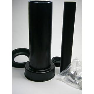 Haas Wand - WC Anschlussgarnitur 300 mm DN 90 mit verchromten Deckkappen