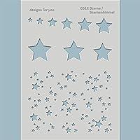 Sterne, Sternenhimmel - dekorative Schablone - 6512 - für Textildesign, Scrapbooking, Mixed Media,...
