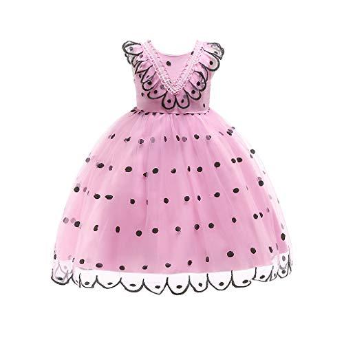 bobo4818 Polka Dot Print Spitzenkleid Kinder MäDchen Prinzessin KostüMe Party Tutu Kleider for 2-7 ()