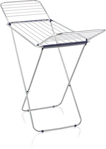 Leifheit Siena 180 - Tendedero de aluminio de metal, 177.8x54.9x94 cm, color plateado