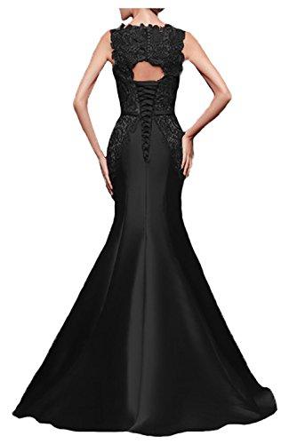 Fanciest Damen Meerjungfrau Abendkleider Ballkleid Spitzen Evening Formelle Gowns Schwarz Grey