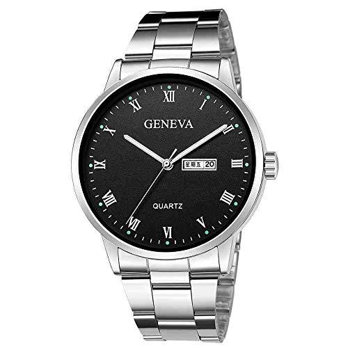YDWD Reloj de Pulsera Vender Reloj Hombre Cuarzo Deporte Militar Acero Inoxidable...